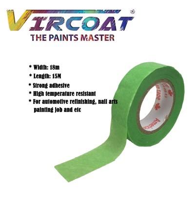 Multi Purpose Heat Resistant, Low Tack DIY Painters Crepe Paper Masking Tape by Dirt and Water Resistant Masking Tape 6 rolls
