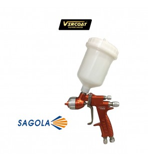 Sagola 4500 Xtreme 1.3mm XL Clear Digital Gravity Spray Paint Pistola Gun