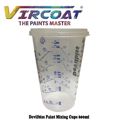 Devilbiss Calibrated Graduated Paint Mixing Cups/ Automotive Paint Mixing Cup Container 600ml