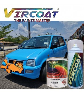 Vircoat Automotive Paint Basecoat/ Car Motor Body Paint- Sky Ocean Blue 1 Ltr