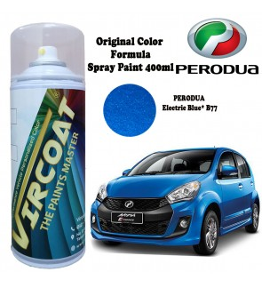 VIRCOAT Custom Mixed Aerosol Spray Paints/ Touch up Car Body Paints - Perodua Electric Blue