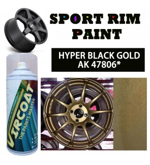 VIRCOAT Aerosol Spray 2K Paint/ Car Body Motor Sport Rim Touch Up Paint- Hyper Black Gold