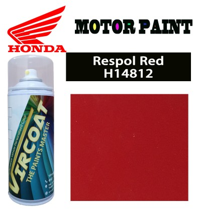 Honda EX5 Motor VIRCOAT Aerosol Spray 2K Paint/ Car Body Motor Sport Rim Touch Up Paint- Respol Red