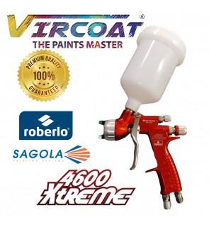 SAGOLA 4600 XTREME ROBERLO Blucrom Edition DVR HVLP & CLEAR Air Cap Spray Gun